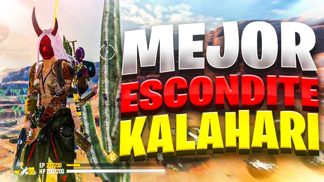 """El MEJOR LUGAR PARA *CAMPEAR* en """"KALAHARI"""" CLASIFICATORIAS (Free Fire nuevos Escondites)"""