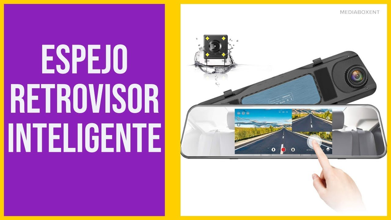 Camara Para Carro Espejo De Antideslumbrante Retrovisor Pantalla Táctil G-Sensor