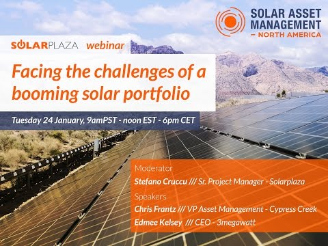 Solarplaza Webinar: Facing the challenges of a booming solar portfolio