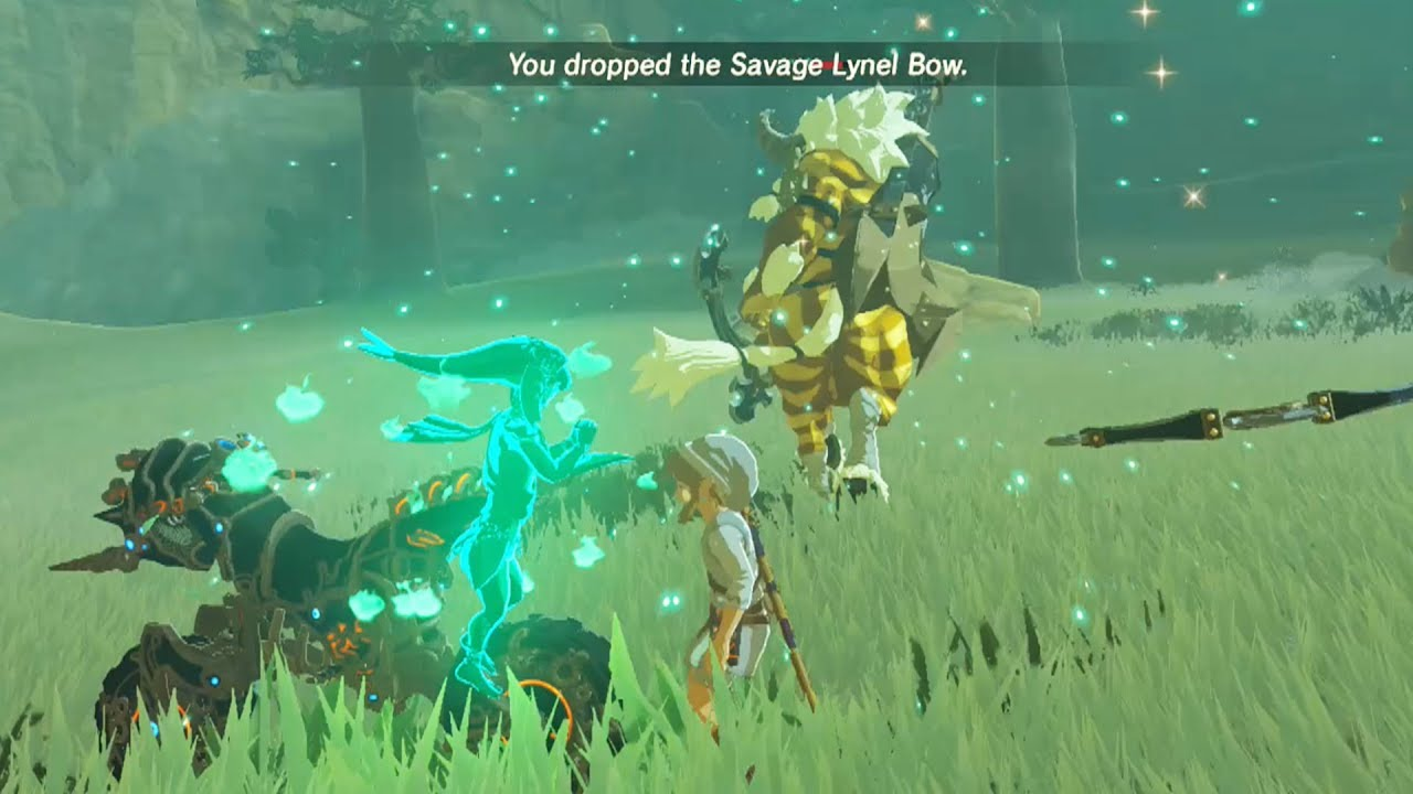 Zelda Breath Of The Wild Master Cycle: How To Kill A Gold Lynel WHILE RIDING The Master Cycle