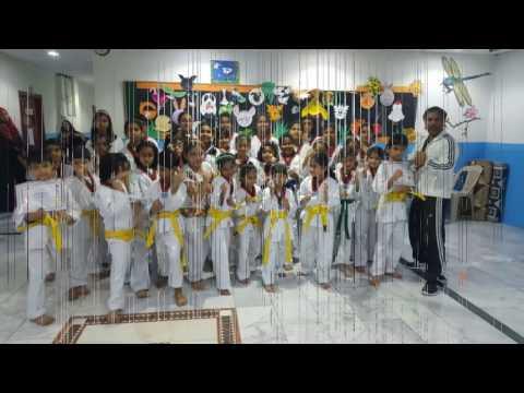 Belt Test award ceremony DPS School Girl Section Jeddah 2017
