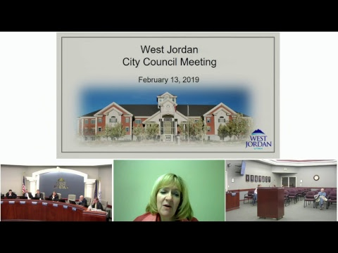 City of West Jordan, Utah - City Council - February 13, 2019