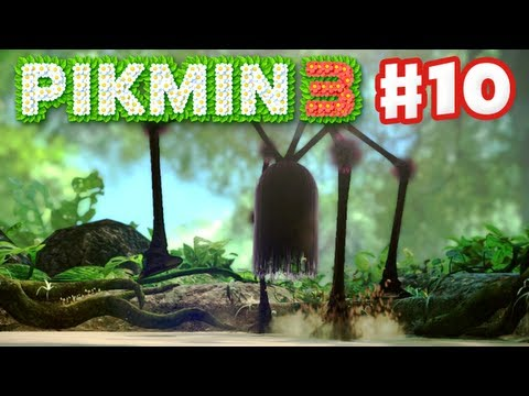 Pikmin 3 - Day 10 - Shaggy Long Legs (Nintendo Wii U Gameplay Walkthrough)