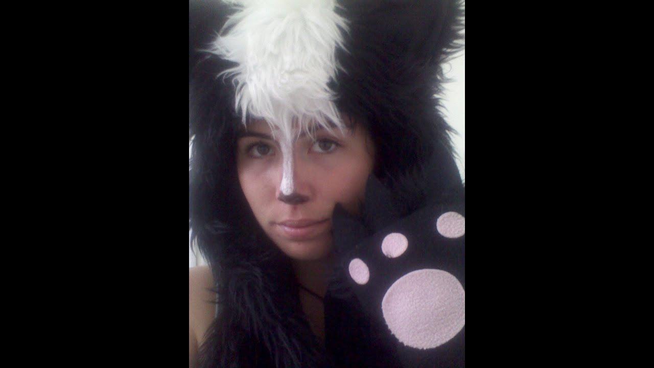 last minute diy skunk costume - youtube