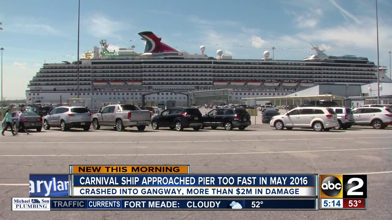 Carnival Pride Crashed Into Baltimore Pier Because It Was Going - Parking at baltimore cruise ship terminal