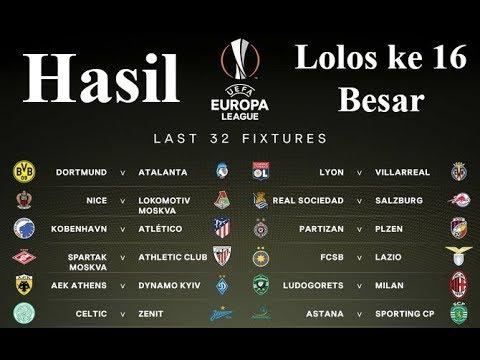 Hasil Liga Eropa 2018 Tadi Malam - Inilah Klub Yang Lolos ke 16 Besar Liga Eropa