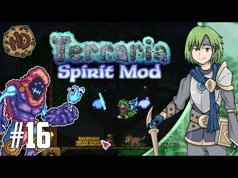 Terraria SPIRIT MOD Let's Play Part 16 | ILLUMINANT MASTER & BLUE MOON! | 1.3.5 PC