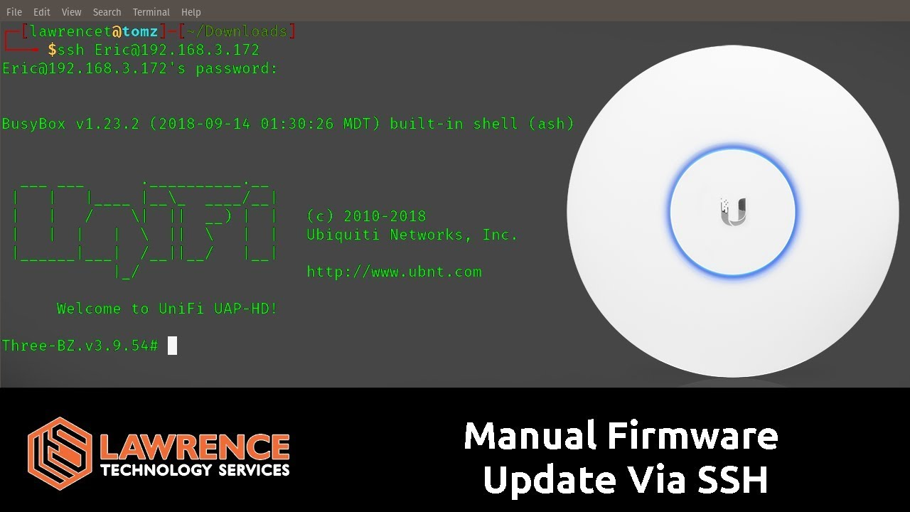 how to manually install firmware on a unifi ap