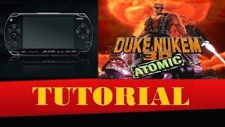 Duke Nukem 3D Atomic Edition no seu PSP