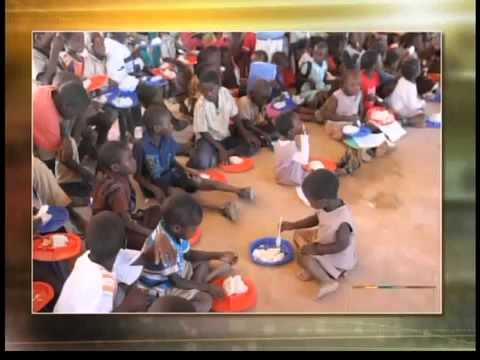 An 11-year-old boy helps the children of Africa