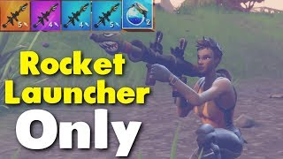 Rocket Launcher Only    SOLO vs SQUAD (Fortnite Battle Royale)