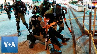 Hong Kong Riot Police Pepper Spray Journalists During Protest