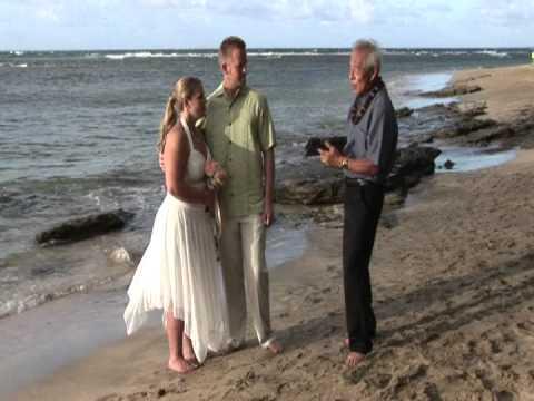 The Slaughter Wedding In Kauai At Ke E Beach 1 Of 2