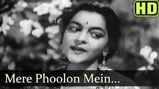 Mere Phoolon Mein Chhipi Hai - Nalini Jaywant - Anokha Pyar - Bollywood Songs - Lata Mangeshkar