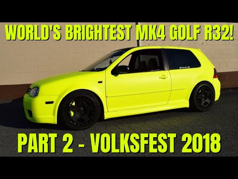 homepage tile video photo for My 2004 VW R32's Polaris Yellow Debut @ Volksfest 2018! Part 2
