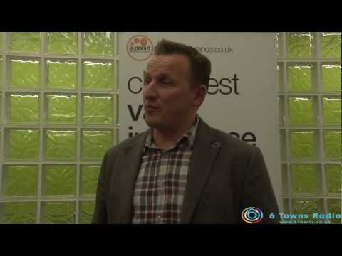 Ian Donaldson of Autonet Insurance at the 6 Towns Radio Stoke - on - Trent Awards ceremony 2013.