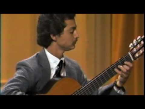 """Fred Benedetti performs """"Chaconne"""" by J.S. Bach at Andres Segovia Masterclass in 1986"""