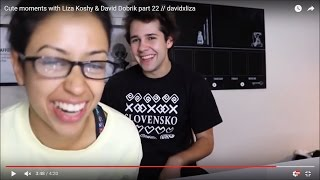Cute moments with David Dobrik & Liza Koshy part 22 // davidxliza