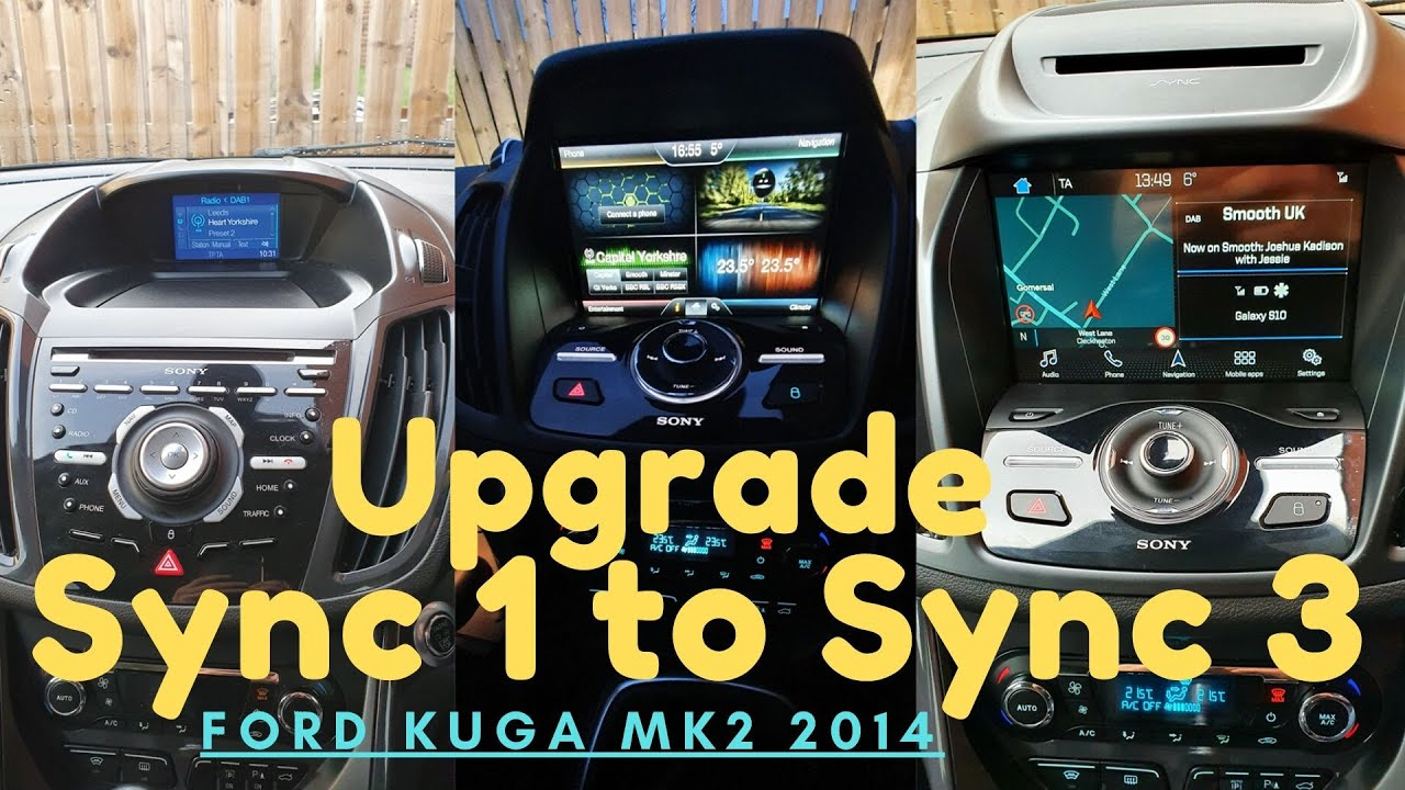 How To Ford Kuga Mk2 Sync 1 To Sync 3 Youtube