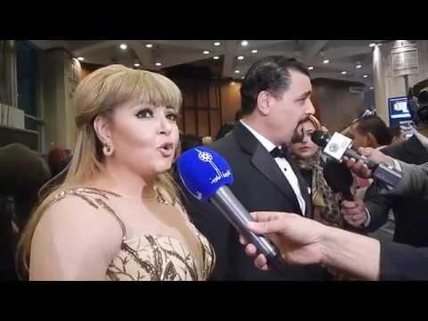 لحظة وصول الفنان نور الشريف للمهرجان السينما و تعليقات الفنانين
