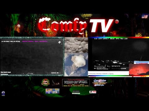 COMFY TV -  VOLCANO WEBRINGCAM - Mt Agung , Bali - LIVE