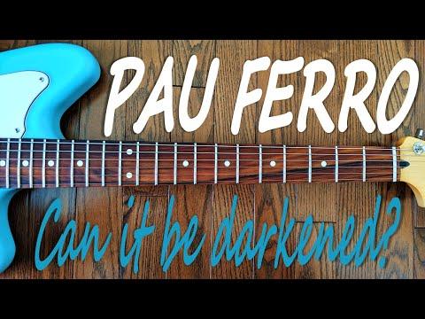 Darkening a Pau Ferro Fretboard   DIY Guitars