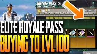 BUYING LEVEL 100 ELITE ROYALE PASS FOR SEASON 3 in PUBG MOBILE