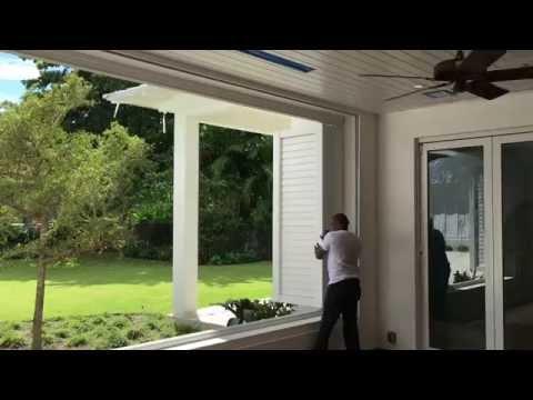 Bi-fold Folding Exterior Shutters Doors manual & motorized