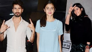 Udta punjab movie success party with shahid kapoor, alia bhatt, ekta kapoor