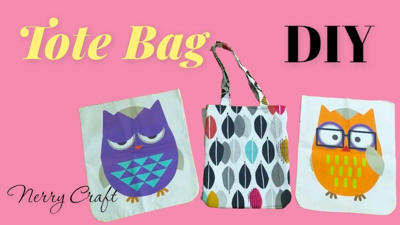 Cách may túi vải – May túi tote bag simple – How to sew a basic tote bag – DIY