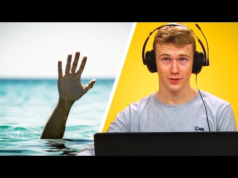 Lifeguards Play Drowning Simulator