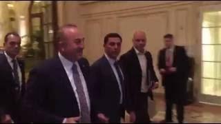 Cumhurbaşkanı Mustafa Akıncı ile TC Dışişleri Bakanı Mevlüt Çavuşoğlu New York'ta bir araya geldi