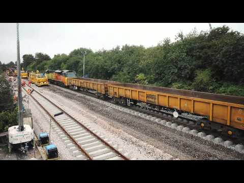 Bathampton Junction time-lapse video of track lowering and renewals 8 August - 1 September 2015