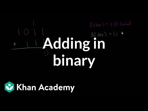 Adding In Binary | Applying Mathematical Reasoning | Pre-Algebra | Khan Academy