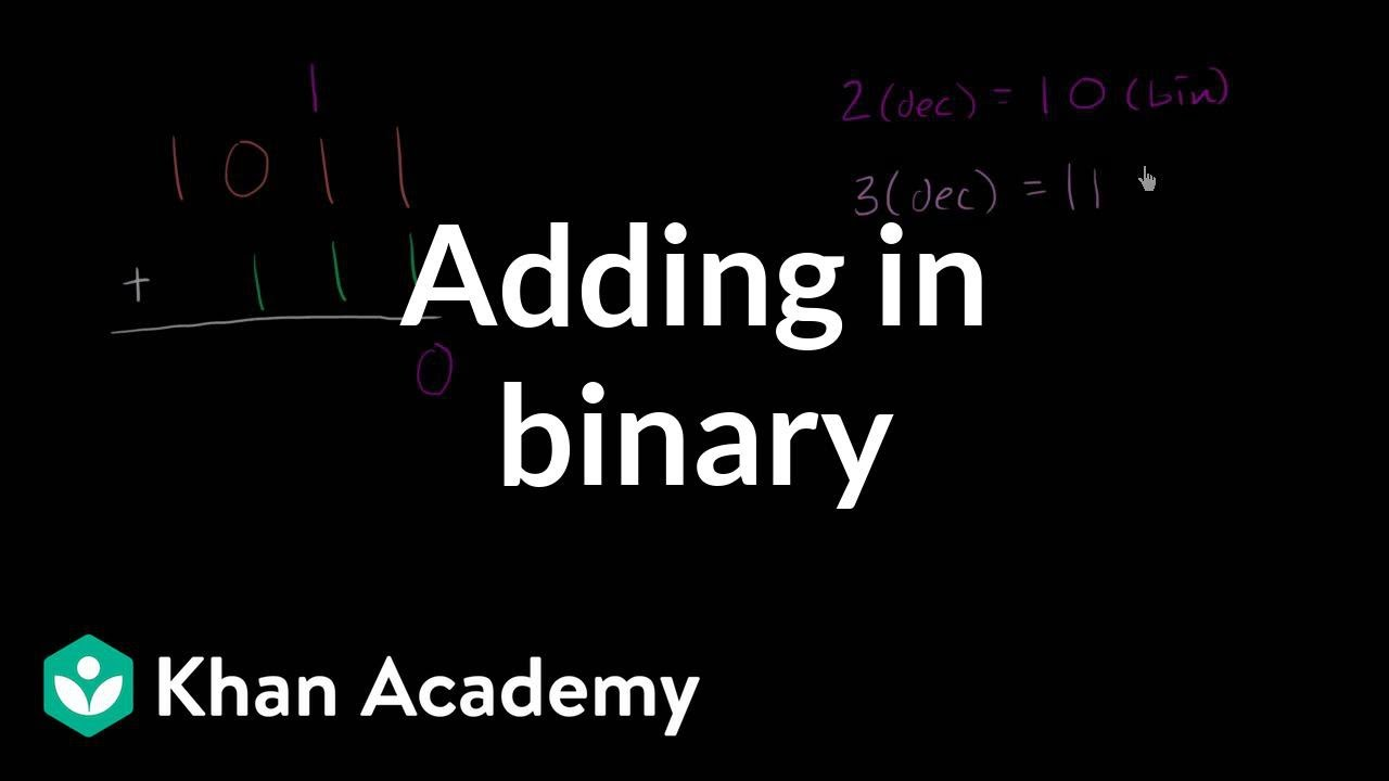 Adding In Binary Video Khan Academy Binary addition practice online