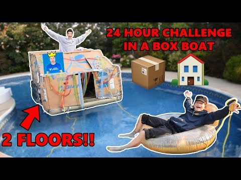 INSANE 2 FLOORED BOX BOAT HOUSE (24 HOUR CHALLENGE)
