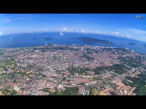 Aerial view Penampang-Kota Kinabalu