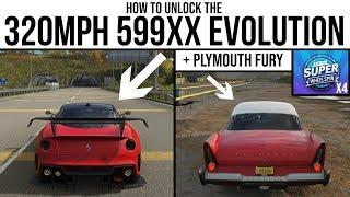 Горизонт Forza 4 - Як розблокувати 320MPH Феррарі букви 599XX Evo з & Плімут Фурія і 4 супер Wheelspins