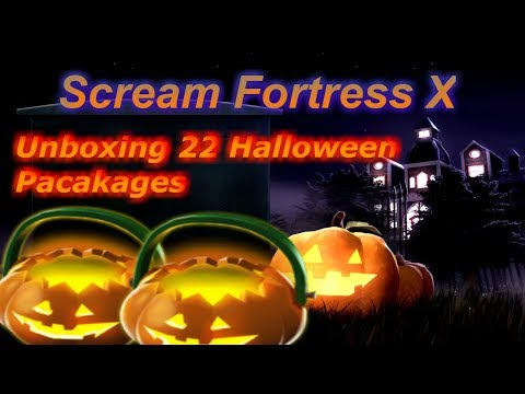 TF2 Scream Fortress 2018: Unboxing 22 Halloween Packages