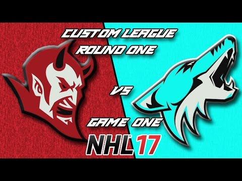NHL 17 - Custom League - California @ Atlanta Round 1 Game 1
