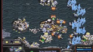 Starcraft Brood War FPVOD 4eburek терран, урок 1 (знакомство, фасткэсп против тосса)