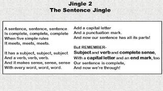 Jingle 2 - The Sentence Jingle - 1st and 2nd Grade