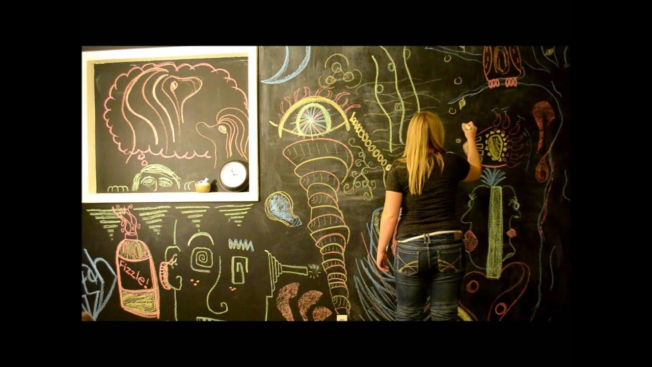 Chalkboard Wall Art - YouTube