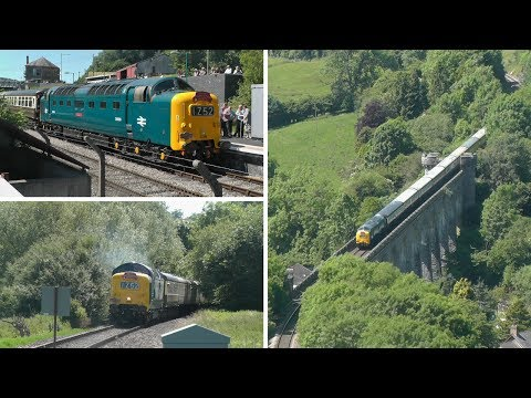 Deltic D9009 Alycidon on the Heart of Wales Line