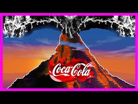 Minecraft - COCA COLA VOLCANO VS BASE CHALLENGE! (Volcano vs Base)
