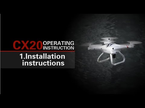 From newbie to expert: How To Fly RC Drone Cheerson CX-20 In 7 Minutes #Samiluo