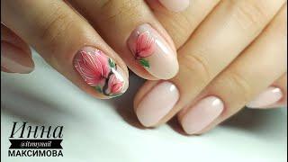❤ шикарная КАМУФЛИРУЮЩАЯ база ❤ MASURA ❤ РИСУЕМ красивый ЦВЕТОК на ногтях ❤ Дизайн ногтей ❤