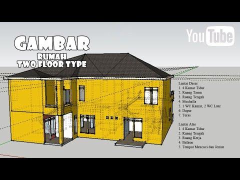 rumah tingkat paling dicari orang software sketchup - youtube