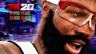 60 POINT QUADRUPLE-DOUBLE with the HEAT! NBA 2K20 My Career Gameplay Best Paint Beast Center Build