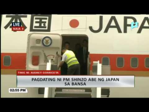 Pagdating ni Japanese Prime Minister Shinzo Abe sa bansa